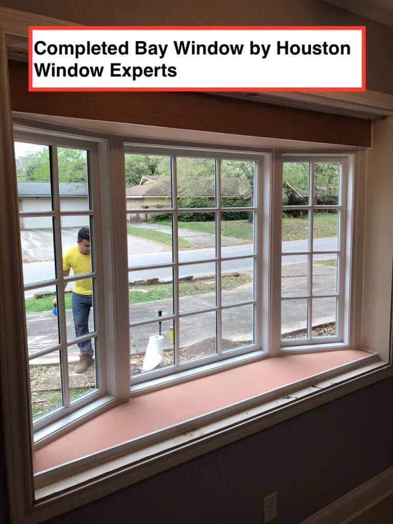 Replacing a bay window in houston houston window experts for Bay window installation